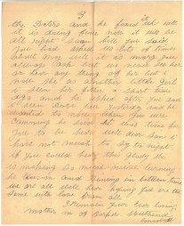 "Lettre de ""Mme William Barker à son fils (pg. 3)"""