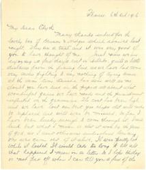 """Lettre de """"Commandant C. Fred Ritchie à un ami"""""""