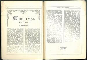"""Pages intérieures de """"The Convoy Call"""" Jour de Noël 1916 en Macédoine"""