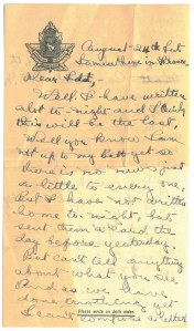 """Lettre de """"Sdt Robert Johnston à Mme R.M. Sutherland"""""""