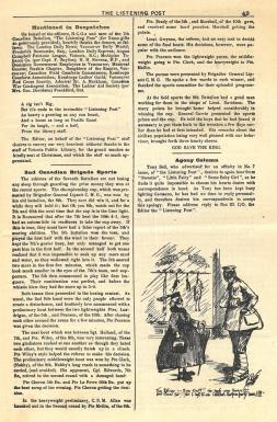 """Pages intérieures de """"The Listening Post"""" 20 janvier 1916"""