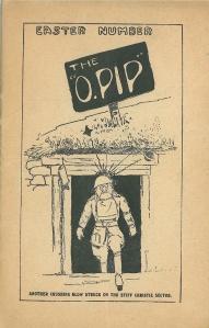"""Page couverture du """"O-PIP"""" numéro de Pâques"""